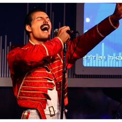 Freddie Mercury Queen Rock Band Red Leather Jacket