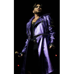 Adam Lambert Purple Leather Coat