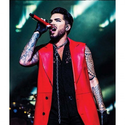 Adam Lambert Concert Leather Coat