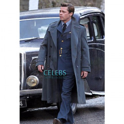 Allied Brad Pitt (Max Vatan) Double Breasted Coat
