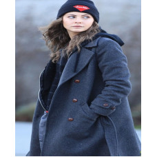 Arrow Willa Holland Wool Blue Coat