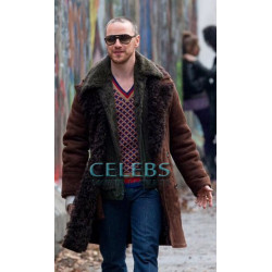 Atomic Blonde James McAvoy Shearling Coat