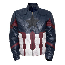 Avengers Infinity War Captain America Costume Leather Jacket