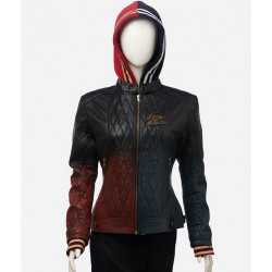 Harley Quinn Daddy's Lil' Monster Quilted Leather Jacket
