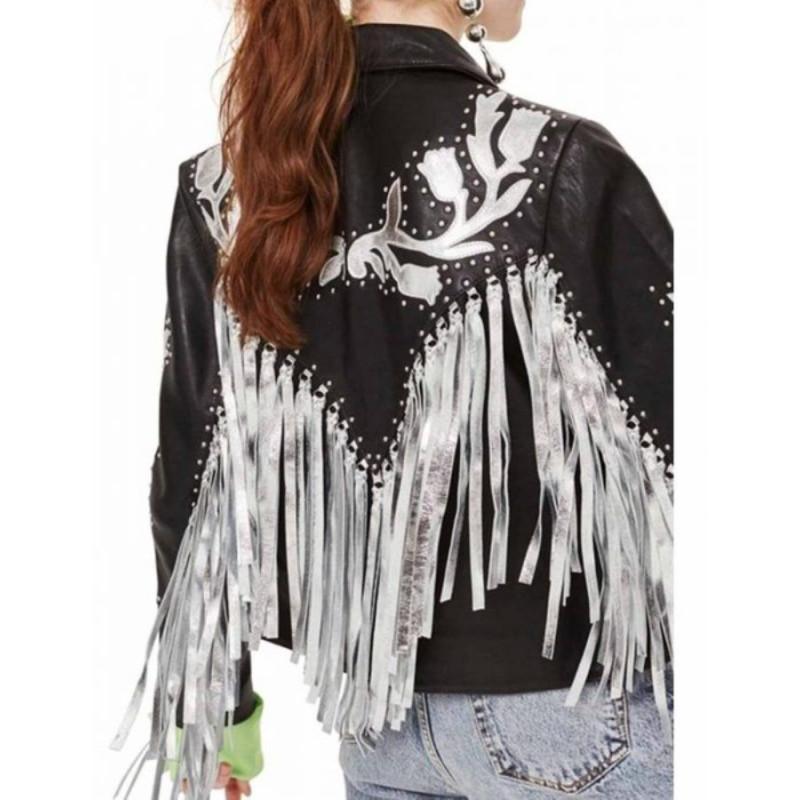 Birds Of Prey Harley Quinn Fringe Jacket Celebs Movie Jackets