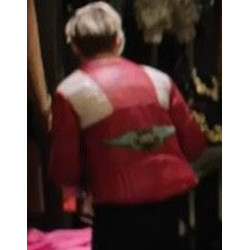 Charlie's Angels Kristen Stewart Red and White Leather Jacket
