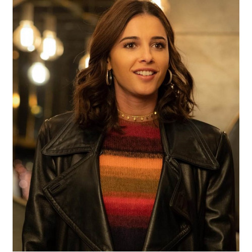 Charlie's Angels Naomi Scott Black Leather Jacket