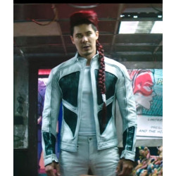 Lewis Tan Deadpool 2 Shatterstar Leather Jacket