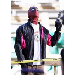 Deadpool 2 Wields A Gun Parachute Jacket