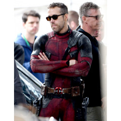 Ryan Reynolds Deadpool 2 Motorcycle Red and Black Jacket