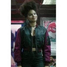 Deadpool 2 Domino Zazie Beetz Bomber Jacket