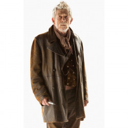 John Hurt War Doctor Who Brown Leather Coat
