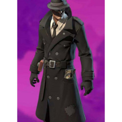 Noir Skin Fortnite Wool Coat