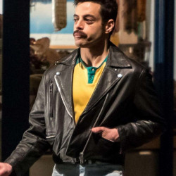 Freddie Mercury Bohemian Rhapsody Biker Leather Jacket