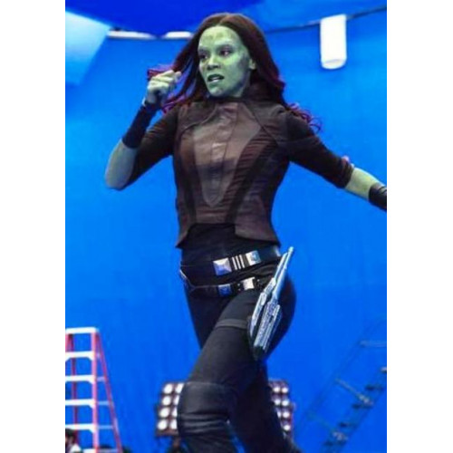 Gamora Leather Jacket From Guardians Of The Galaxy Vol 2