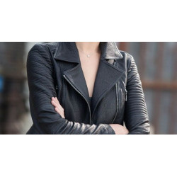 Fast Furious 6 Gal Gadot Black Leather Jacket