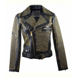 Womens Full Golden Studded Jacket