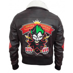 Bombshell Harley Quinn Brown Leather Jacket