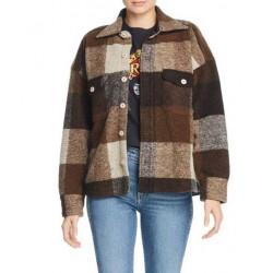 Emma Roberts Holidate Sloane Plaid Jacket