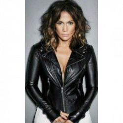 Jennifer Lopez Black Tight Leather Jacket