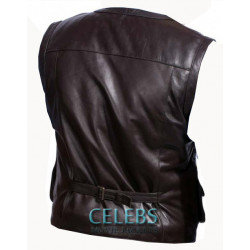 Chris Pratt Leather Vest From Jurassic World