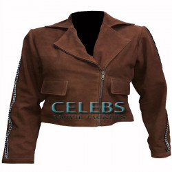 Justice League Gal Gadot Suede Jacket