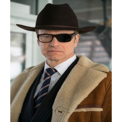 Kingsman Colin Firth Shearling Coat
