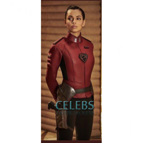 Krypton TV Series Lyta Zod Georgina Campbell Red Jacket