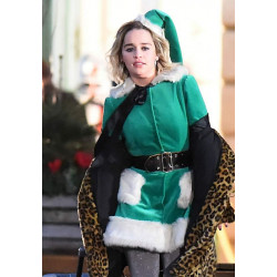 Last Christmas Emilia Clarke Green Coat