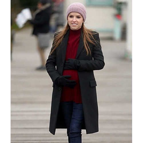 Anna Kendrick Love Life Darby Black Wool-blend Coat