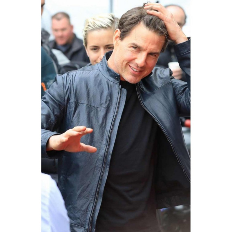 Mission Impossible 6 Tom Cruise Biker Real Leather Jacket