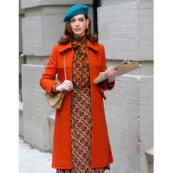 Anne Hathaway Modern Love Lexi Orange Coat