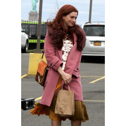Anne Hathaway Modern Love Pink Lexi Coat