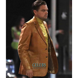Once Upon a Time In Hollywood Leonardo DiCaprio Leather Blazer Coat