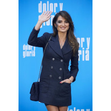 Penelope Cruz Pain And Glory Photocall Blue Coat