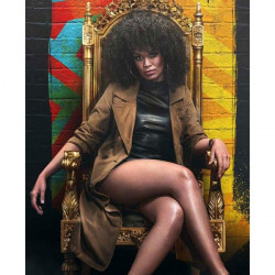Queen Sono Pearl Thusi Trench Coat