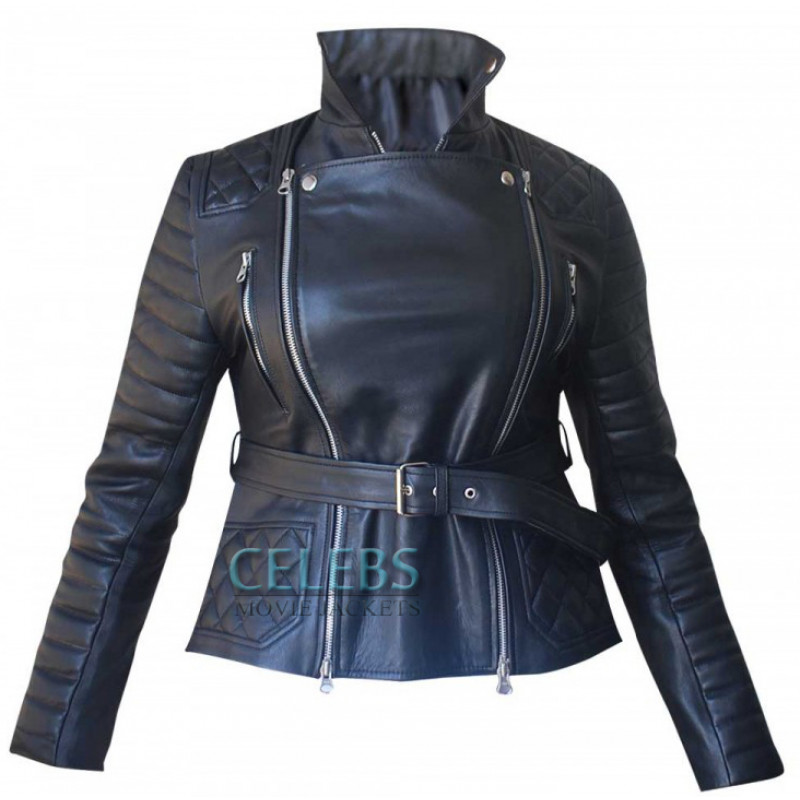 Rachel Bilson Stunning Quilted Biker Jacket - Celebsmoviejackets : leather quilted biker jacket - Adamdwight.com
