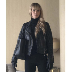 Red Sparrow Jennifer Lawrence (Dominika Egorova) Black Jacket