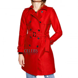 Riverdale Polly Cooper Double Breasted Red Trench Coat