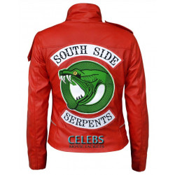 Cheryl Blossom Riverdale Serpent Red/Black Jacket