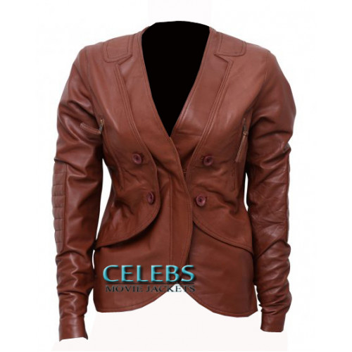 Stana Katic Castle Kate Beckett Stylish Design Coat