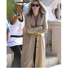 Sandra Bullock Beige Long Coat