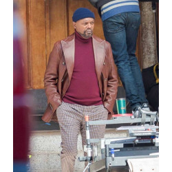 Shaft Samuel L. Jackson Leather Blazer