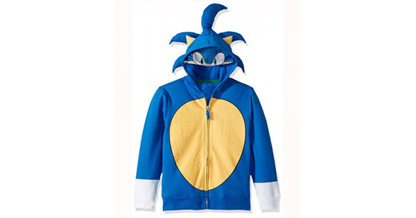 Sonic The Hedgehog Hoodie Halloween Costume Celebs Movie Jackets