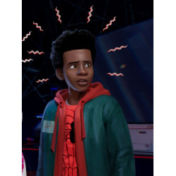Spiderman Into The Spider Verse Miles Morales Hoodie Jacket