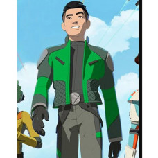 Star Wars Resistance Kazuda Xiono Green Jacket