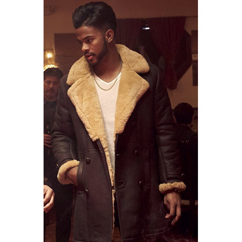 Superfly Trevor Jackson Shearling Coat