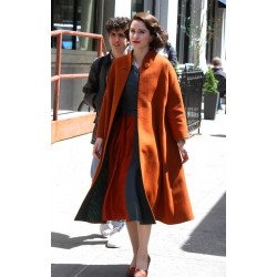 Rachel Brosnahan The Marvelous Mrs. Maisel Orange Coat