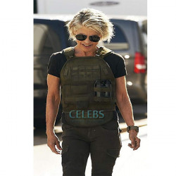 Terminator Reboot Linda Hamilton (Sarah Connor) Leather Vest