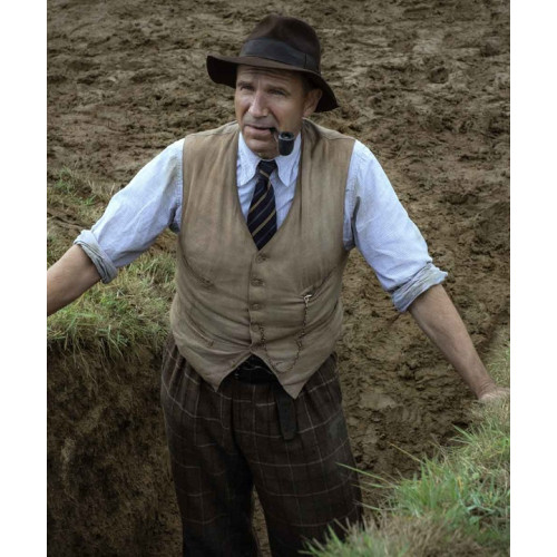 Ralph Fiennes The Dig Basil Brown Vest